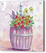Country Flowers Acrylic Print