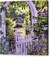 Country Garden Gate Acrylic Print