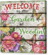 Country Garden Sign-e Acrylic Print