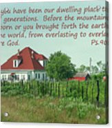 Country Home Ps.90 V 1-2 Acrylic Print