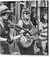 Country In The French Quarter 3 Bw Acrylic Print