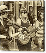 Country In The French Quarter 3 Sepia Acrylic Print
