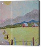 Country Landscape On Barnwood Acrylic Print