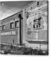 Country Legend Bob Wills In Roy New Mexico Acrylic Print