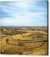 Country Mountain Roads Acrylic Print