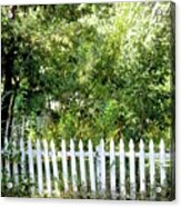 Country Picket Fence Acrylic Print