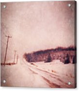 Country Road In Snow Acrylic Print by Jill Battaglia