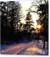Country Road Sunset Acrylic Print