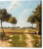 Country Road with Trees Acrylic Print