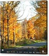 Country Roads Acrylic Print