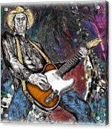 Country Rock Guitar Acrylic Print