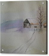 Country Snow Acrylic Print
