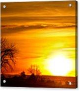 Country Sunrise 1-27-11 Acrylic Print