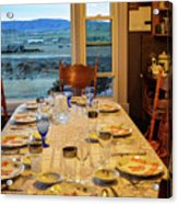 Country Table Setting Acrylic Print