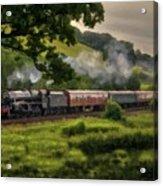 Country Train Ride Acrylic Print
