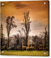 Countryscape With Bell Tower Acrylic Print