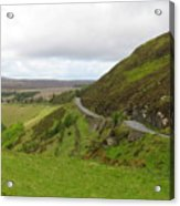 Countryside Road Bends Around Hill Acrylic Print