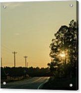Countryside Sunset Acrylic Print