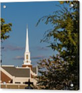 County Courthouse Bell And Church Spire Acrylic Print