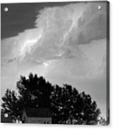 County Line Northern Colorado Lightning Storm Bw Pano Acrylic Print by James BO  Insogna