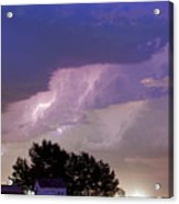 County Line Northern Colorado Lightning Storm Cropped Acrylic Print