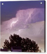 County Line Northern Colorado Lightning Storm Panorama Acrylic Print by James BO  Insogna