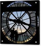 Couple And Clock D'orsay Museum Paris Acrylic Print