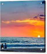 Couple At Sunset Acrylic Print