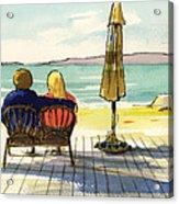 Couple At The Beach Acrylic Print