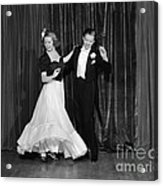 Couple Ballroom Dancing On Stage Acrylic Print