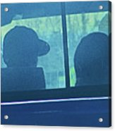 Couple In The Truck Acrylic Print