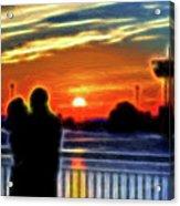 Romantic Sunrise. Acrylic Print