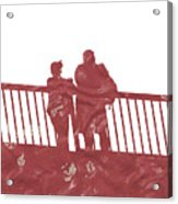 Couple On Bridge Acrylic Print