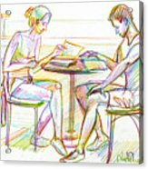 Couple Reading Acrylic Print