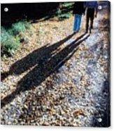 Couple Walking In The Fall Acrylic Print