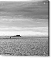 Couple Walking On A Sandbank Acrylic Print