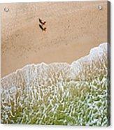 Couple Walking On Tallow Beach Acrylic Print