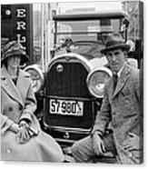 Couple With Their Peerless Car Acrylic Print
