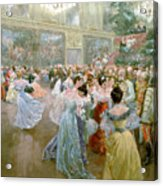 Court Ball At The Hofburg Acrylic Print by Wilhelm Gause