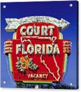 Court Florida Acrylic Print