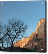 Court Of The Patriarchs Sunrise Zion National Park Acrylic Print