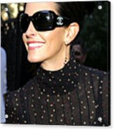 Courteney Cox Wearing Chanel Sunglasses Acrylic Print by Everett