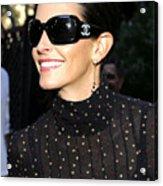 Courteney Cox Wearing Chanel Sunglasses Acrylic Print by Everett