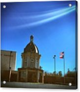 Courthouse And Flags Acrylic Print