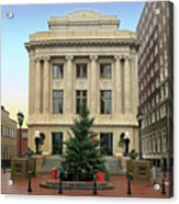 Courthouse At Christmas Acrylic Print