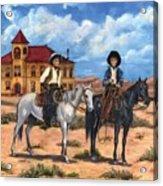 Courthouse Cowboys Acrylic Print