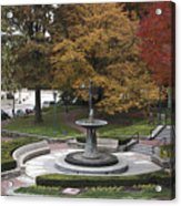 Courthouse Square In Rockville Maryland Acrylic Print