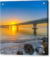 Courtney Campbell Bridge Sunrise - Tampa, Florida Acrylic Print
