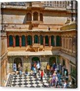 Courtyard, City Palace, Udaipur Acrylic Print