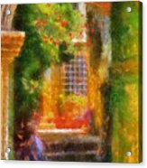 Courtyard In Cavtat Acrylic Print